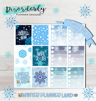 Winter Plannerland Official Merchandise- Stickers