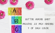 Glitter Functional stickers