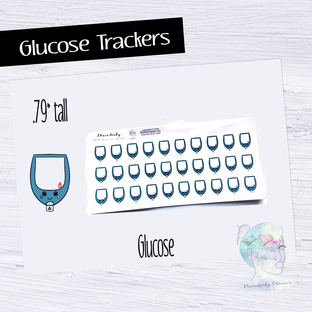 Kawaii Glucose tracker decorative icons