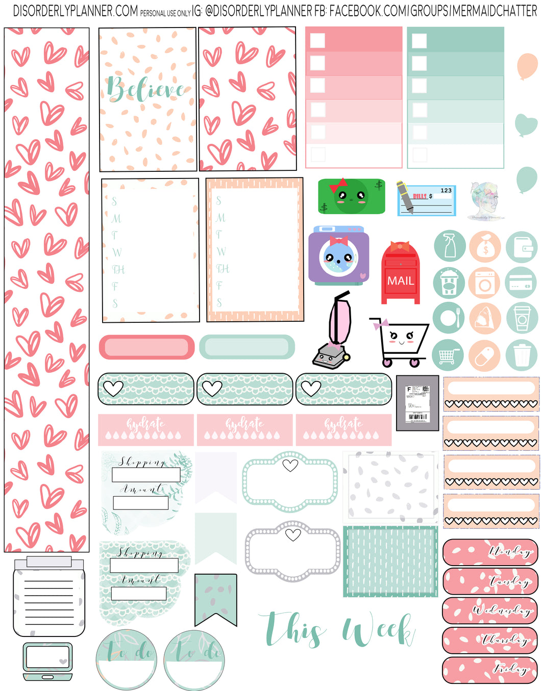 Happy Printable Planner Stickers