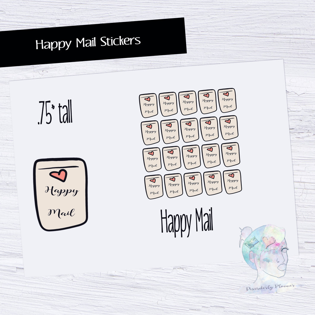Hand Drawn Stickers -  Happy Mail