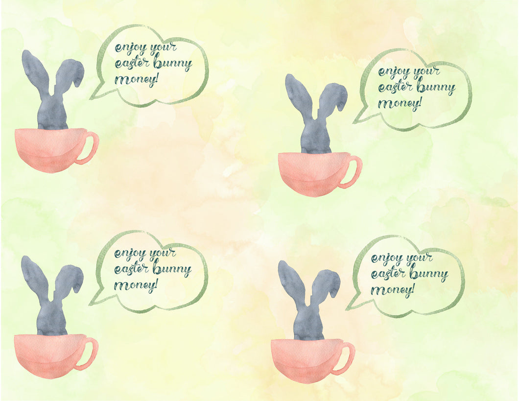 Easter Money Card , Easter Bunny Money , Easter Card, Easter Money Gift, Printable, Digital Easter Gift for Adult Children