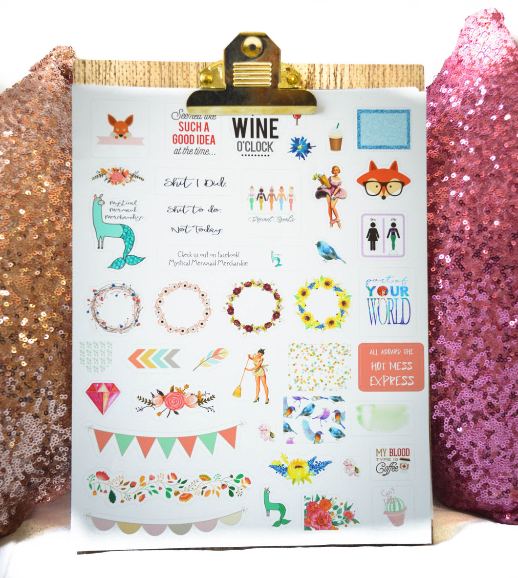 Custom personalized Planner Sticker Sheet