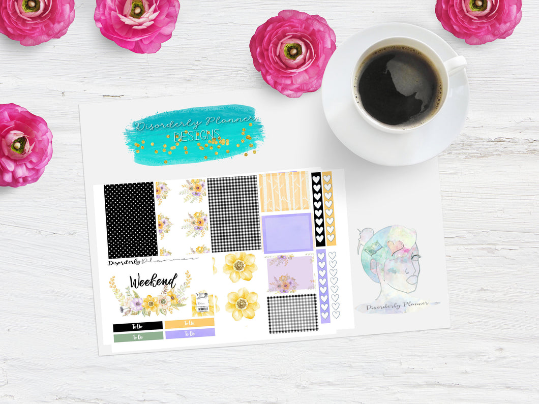 Fancy Floral Week mini sampler