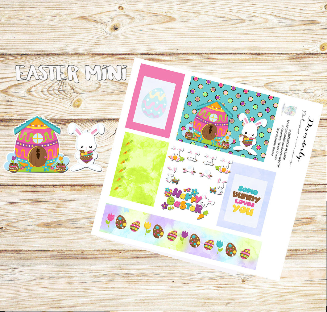 Cute - Easter Stickers - Gifts under 10 -  Planner stickers -Easter Bunny Stickers - Washi Stickers -Planner stickers - Erin Condren