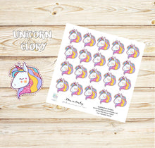 Unicorn Stickers - Glitter Unicorn Stickers - Rainbow stickers - Party Stickers - Birthday Stickers -Planner stickers - Erin Condren - Cute
