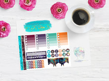 Planetary Fox Galactica Week sampler - Planner Stickers - Filo Fax - Erin Condren - Happy Planner Stickers - Weekly Kit - Functional
