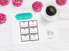 Disorderly Planner Custom Colored Half Box Planner Kit Disorderly Planner Stickers
