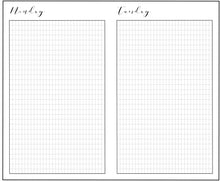 Travelers Notebook Insert - Weekdays - Daily  Insert - Custom Size - Insert - TN Tracker