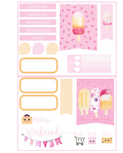 Micro Ice Cream Truck Functional Set - TN - Planner Stickers - Popsicle Stickers - Summer Stickers