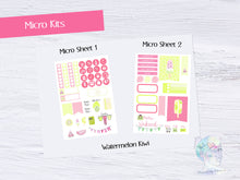 Micro Watermelon Kiwi Functional Set - TN - Planner Stickers - Popsicle Stickers - Summer Stickers