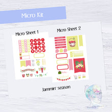 Micro Jammin' Season Functional Set - TN - Planner Stickers - Strawberry Stickers - Summer Stickers