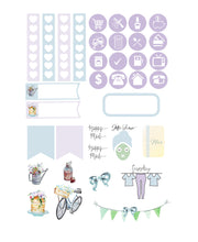 Micro Garden Party Functional Set - TN - Planner Stickers - Garden Stickers - Summer Stickers