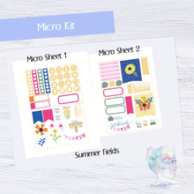 Micro Summer Fields Functional Set - TN - Planner Stickers - Floral Stickers - Summer Stickers