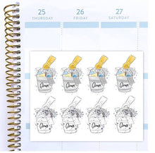 Clean - functional doodle write ins Disorderly Planner Designs - planner stickers
