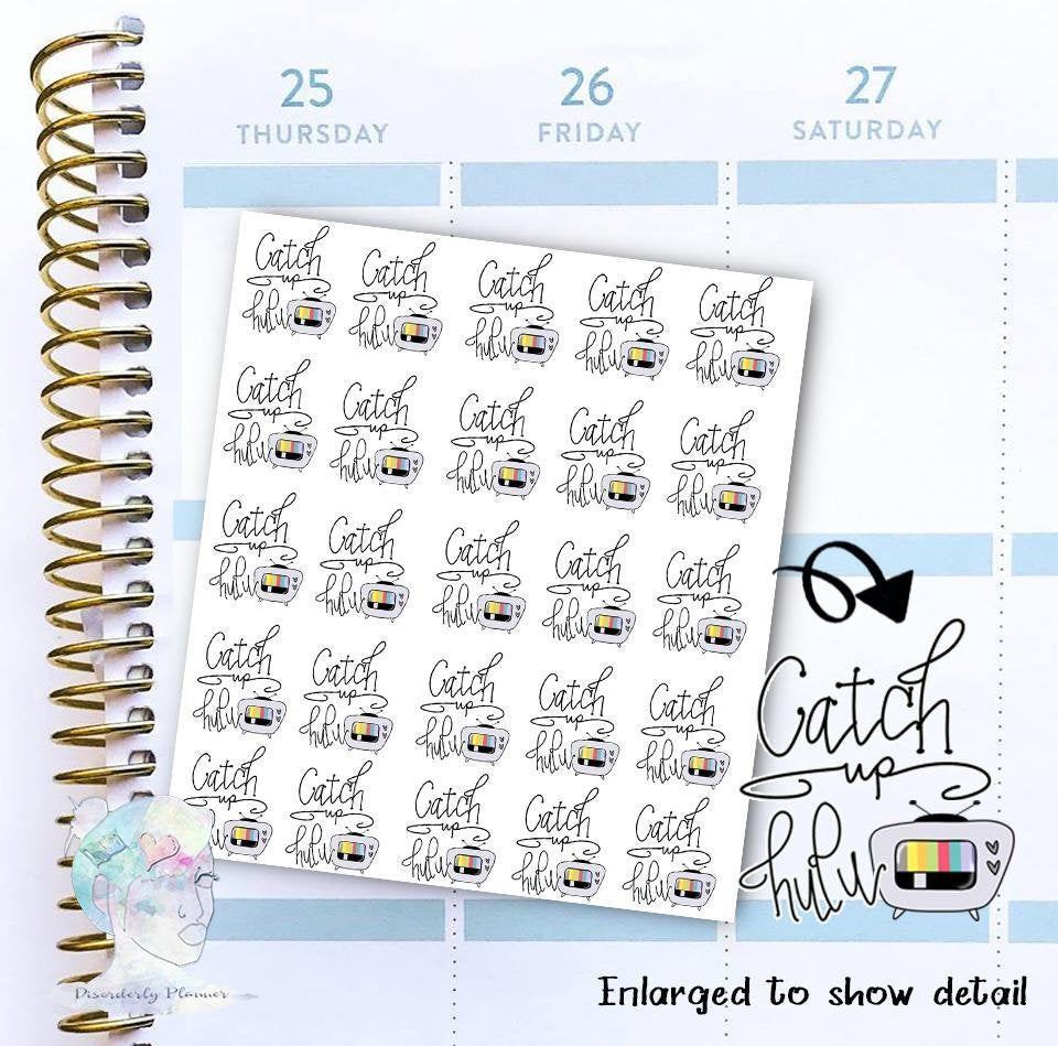 Watch Hulu - functional doodle write ins Disorderly Planner Designs - planner stickers