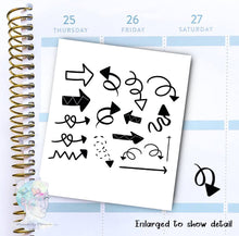 Arrow sticker - TN Stickers - functional doodle write ins - planner stickers