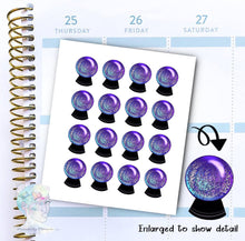 Crystal Ball Stickers -  Magic- functional doodle write ins Disorderly Planner Designs - planner stickers