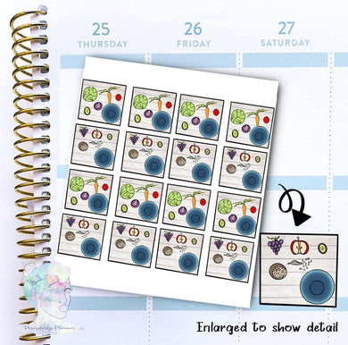 Food Prep - Food -Meal Stickers - functional doodle write ins Disorderly Planner Designs - planner stickers