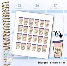 Probably Wine - Coffee Sticker -  functional doodle write ins Disorderly Planner Designs - planner stickers