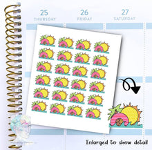 Summer Stickers - Pool - Beach - Vacation  -  functional doodle write ins Disorderly Planner Designs - planner stickers