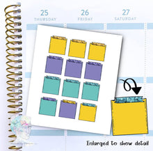 Note Stickers - To Do - Notepad -  functional doodle write ins Disorderly Planner Designs - planner stickers