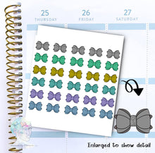 Bow Stickers - functional doodle write ins Disorderly Planner Designs - planner stickers