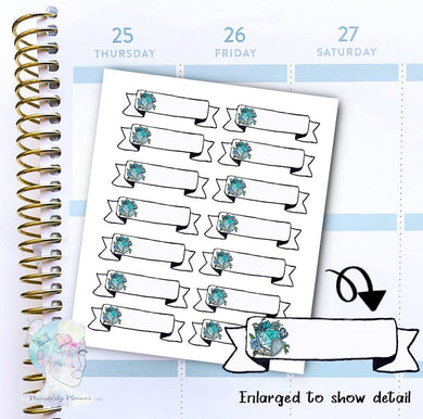 D20 - DND Write in - Gamer  -  Magic- functional doodle write ins Disorderly Planner Designs - planner stickers