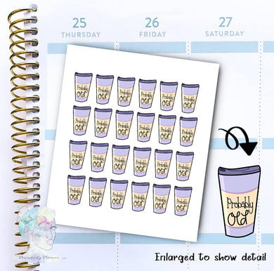 Probably old - Coffee Sticker -  functional doodle write ins Disorderly Planner Designs - planner stickers