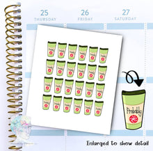 Probably peppermint - Coffee Sticker -  functional doodle write ins Disorderly Planner Designs - planner stickers