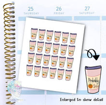 Probably Pumpkin Spice - Coffee Sticker -  functional doodle write ins Disorderly Planner Designs - planner stickers