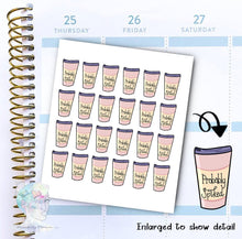 Probably Spiked - Coffee Sticker -  functional doodle write ins Disorderly Planner Designs - planner stickers