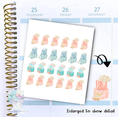 Cake Stickers - Party - Holiday - Birthday -  functional doodle write ins Disorderly Planner Designs - planner stickers