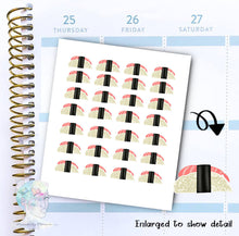 Sushi Stickers - Sea Food - Take Out -  functional doodle write ins Disorderly Planner Designs - planner stickers