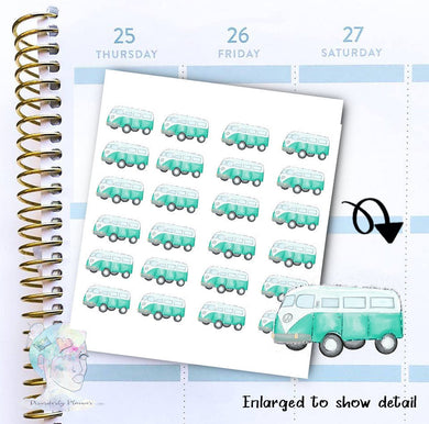 Van Stickers - Summer stickers -  functional doodle write ins Disorderly Planner Designs - planner stickers