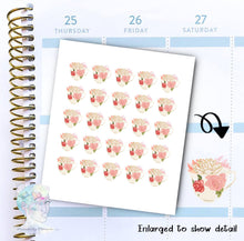 Tea Cup Stickers - Tea - Spring - functional doodle write ins Disorderly Planner Designs - planner stickers