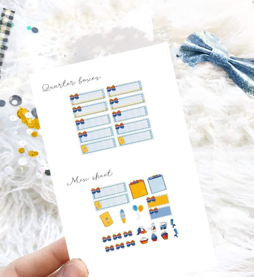 Hand Drawn Stickers- Planner Stickers - Surf's Up!