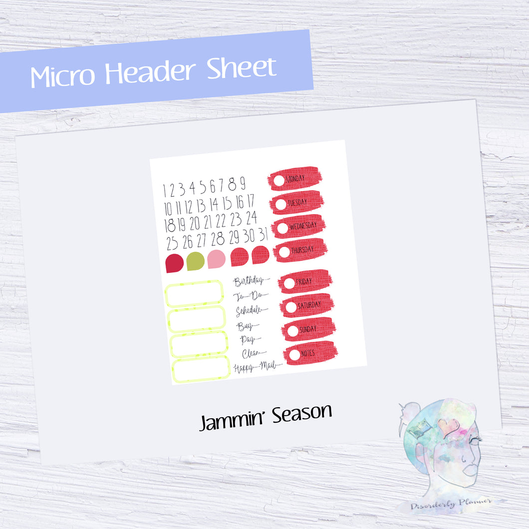 Functional Micro Header Kit- Jammin' Season