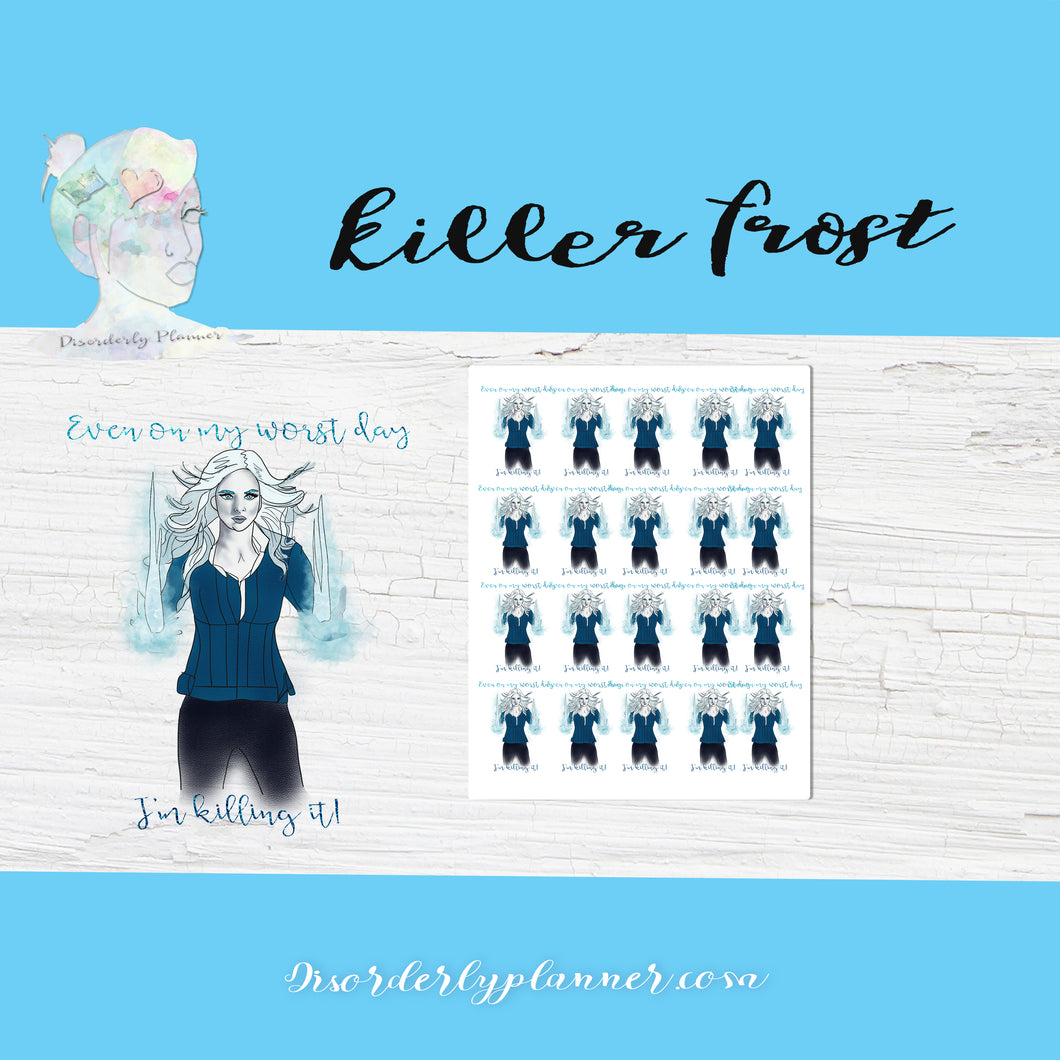 Flash themed Killer Frost Stickers - Celebrities - Mature Content Warning