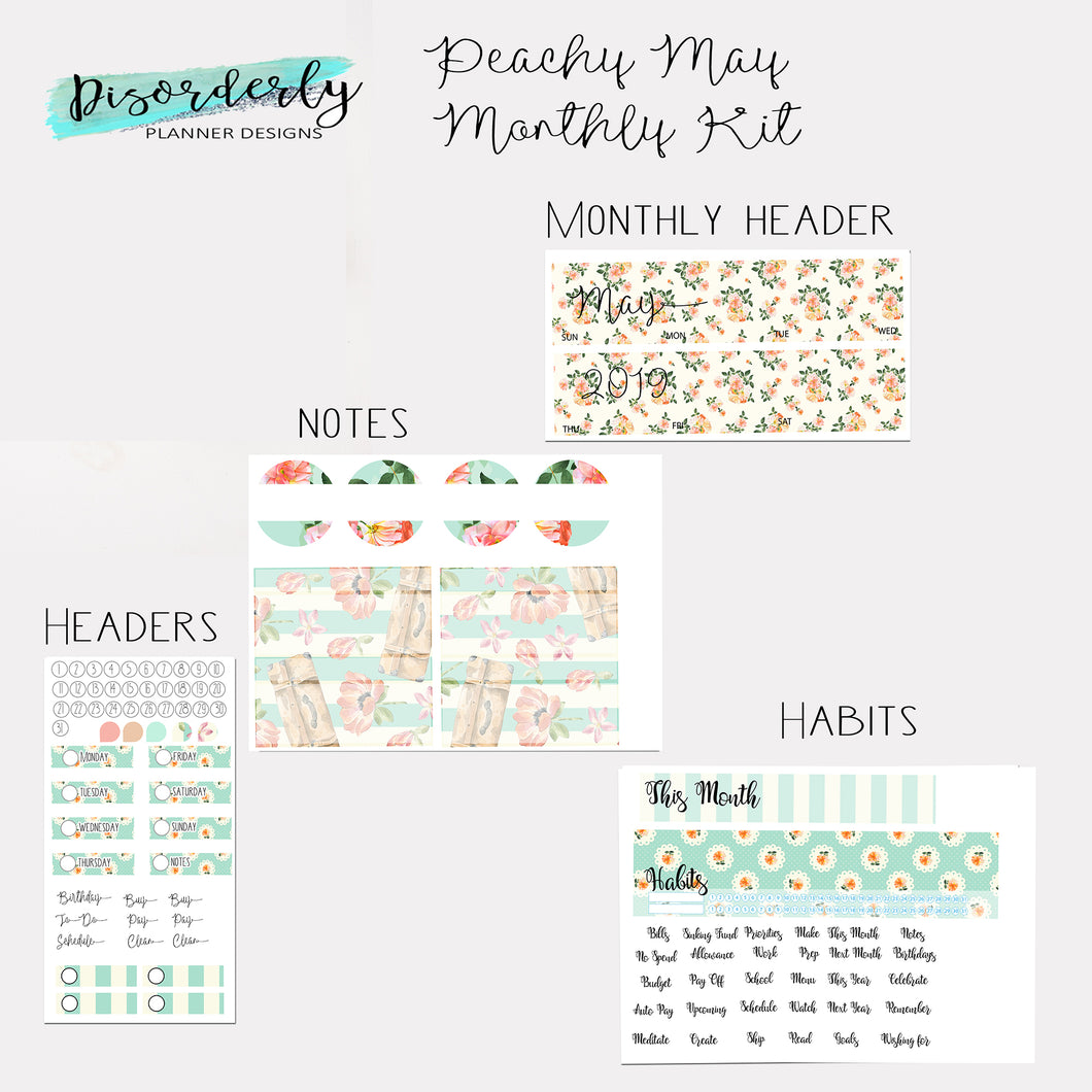 May 2019 Monthly View Kit- Peachy