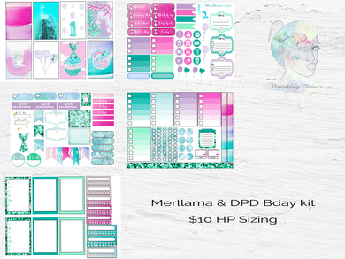 Merllama 1st Birthday Disorderly Planner kit!