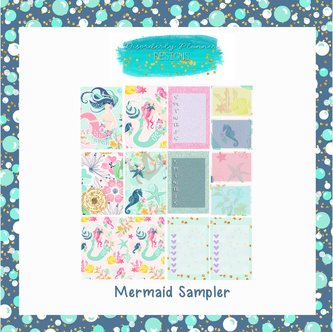 Mermaid Sampler Stickers - Tuesday Stickers- Disorderly Planner Stickers