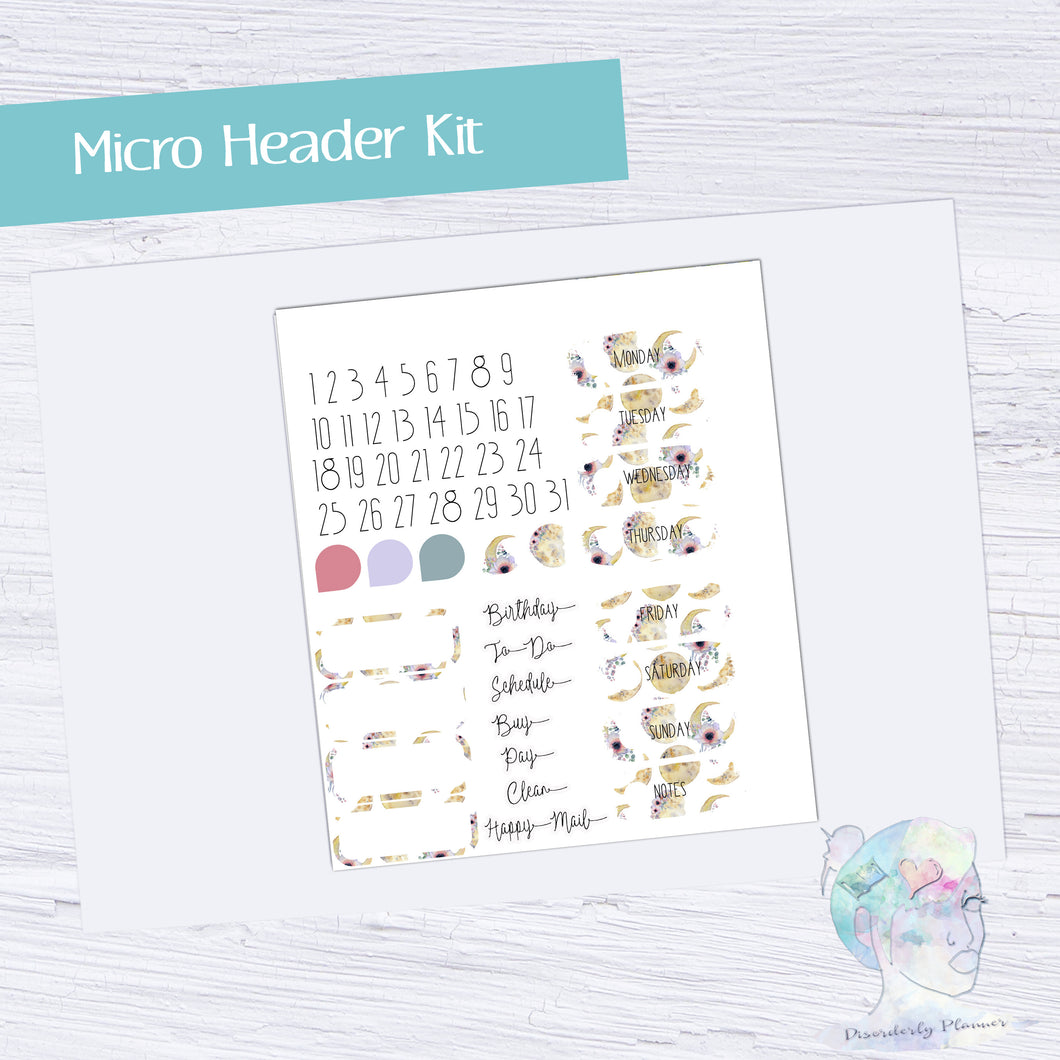 Functional Micro Header Kit- Moon Flower