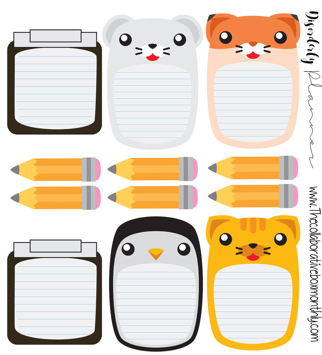 Disorderly Planner Mini Notebooks Planner Kit - Planner stickers - Functional Sticker Kit -