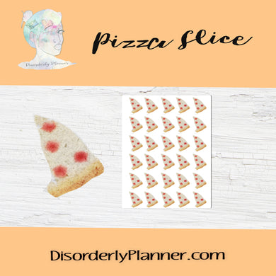 Daily Activities - Watercolored Stickers - Pizza