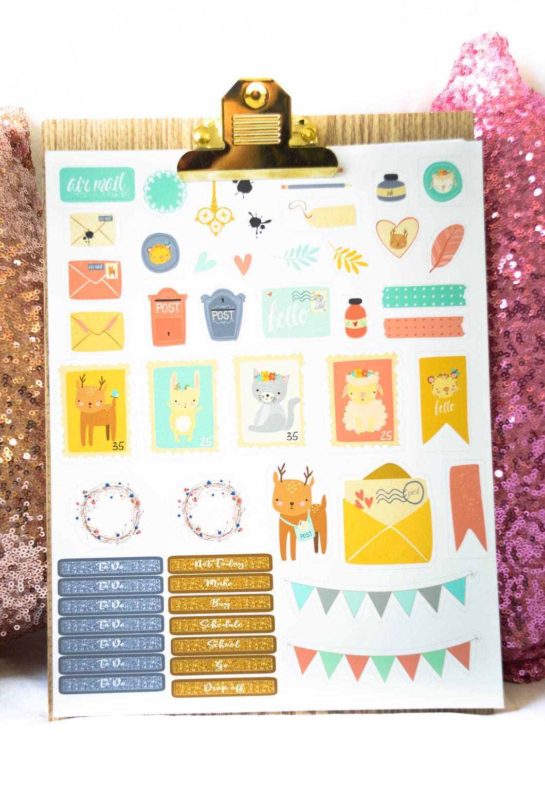 Custom Planner Stickers Sheet Easter