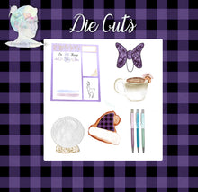 Holiday Decorative Stickers and Die Cuts - Purple