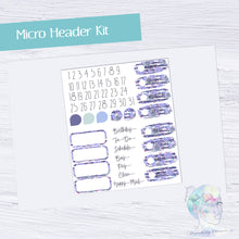 Functional Micro Header Kit- Violet Succulent
