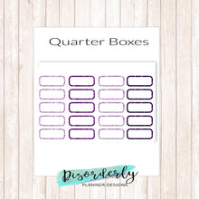Glitter Quarter Boxes Functional Stickers