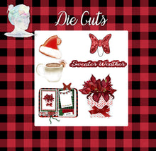 Copy of Holiday Decorative Stickers and Die Cuts - Red